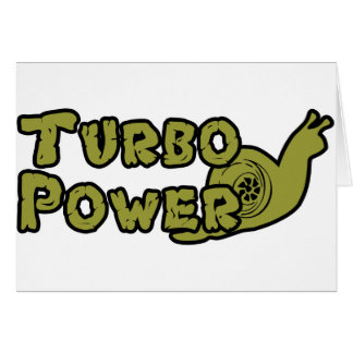 Poder de Turbo Tarjeta De Felicitación