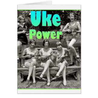 Poder de Uke Tarjeta De Felicitación