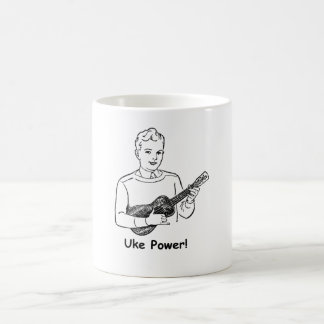 ¡Poder de Uke! Taza Básica Blanca