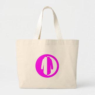 Poder del abrigo esquimal + rosa bolsa tela grande