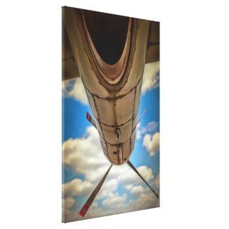 Poder del aeroplano impresion de lienzo