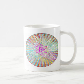 Poder del alma Diseño artístico de energía solar Taza De Café