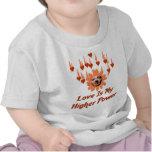 Poder del amor camisetas