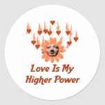 Poder del amor etiqueta