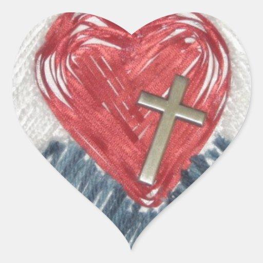 ¡Poder del amor! Pegatina De Corazón