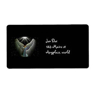 Poder del ángel etiqueta de envío