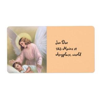 Poder del ángel etiquetas de envío