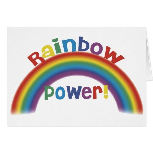 ¡Poder del arco iris! Felicitación