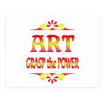 Poder del arte tarjetas postales