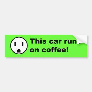 Poder del café - pegatina para el parachoques pegatina para auto