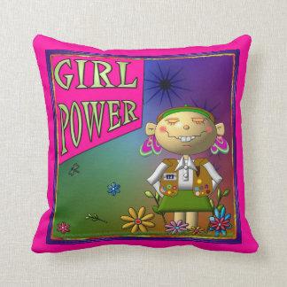 Poder del chica/almohada de MoJo del americano del Cojín