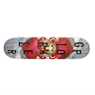 Poder del chica del animado tablas de skate