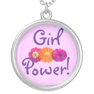 ¡Poder del chica! Flores rosadas, púrpuras, anaran Colgante Redondo