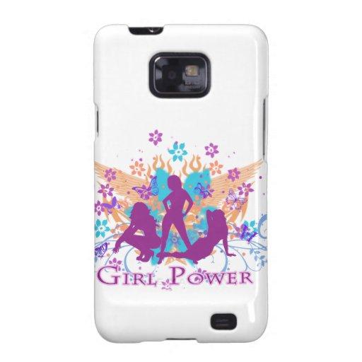 poder del chica samsung galaxy s2 carcasa
