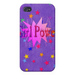 Poder del chica iPhone 4 protectores