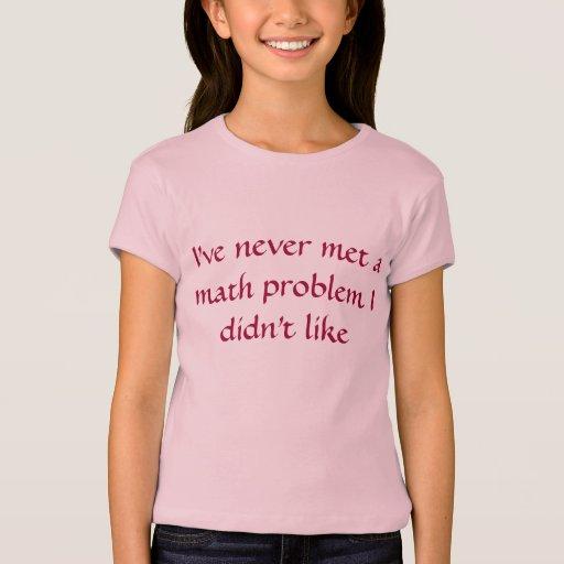 Poder del chica - matemáticas playera