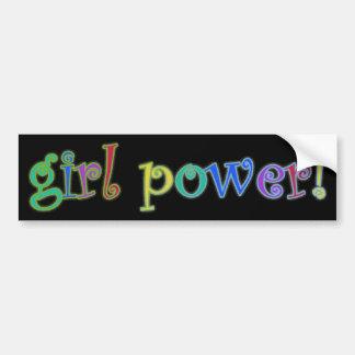 ¡poder del chica! pegatina para auto