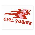 Poder del chica postales
