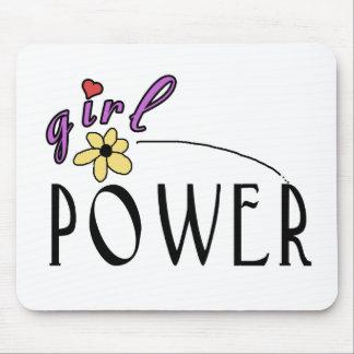 Poder del chica tapete de ratones