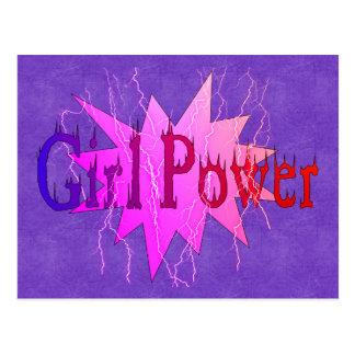 Poder del chica tarjeta postal