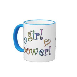 ¡poder del chica! taza de dos colores