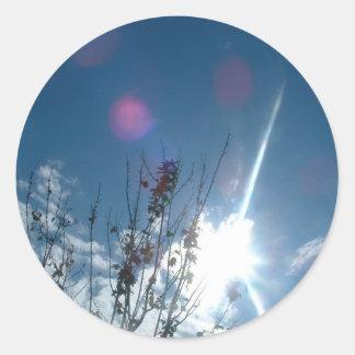 Poder del cielo etiquetas redondas