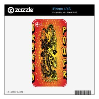 Poder del dragón iPhone 4 skins