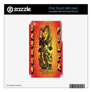 Poder del dragón iPod touch 4G calcomanía