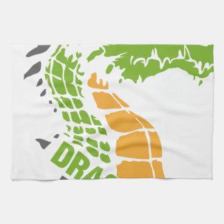 Poder del dragón - orgullo/fuerza/dirección toallas de mano