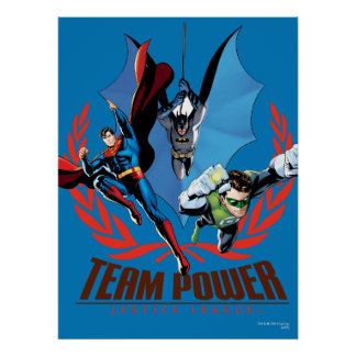 Poder del equipo de la liga de justicia impresiones