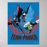 Poder del equipo de la liga de justicia póster