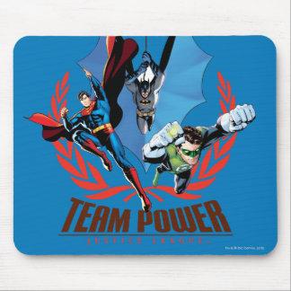 Poder del equipo de la liga de justicia tapetes de raton