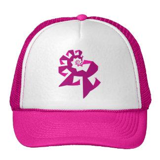 Poder del fractal - rosa gorros bordados