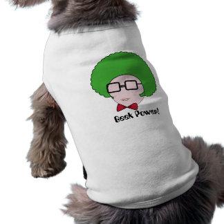 Poder del friki con una peluca verde del Afro y Playera Sin Mangas Para Perro