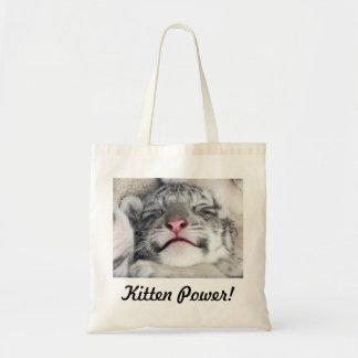¡Poder del gatito! Bolsa Tela Barata