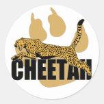 Poder del guepardo etiquetas redondas