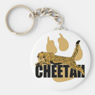 Poder del guepardo llavero redondo tipo pin