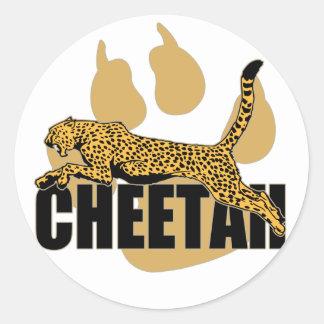 Poder del guepardo pegatina redonda