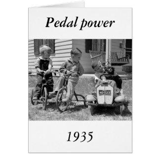 Poder del pedal, los años 30 tarjeta de felicitación