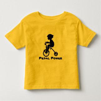 Poder del pedal playera de bebé