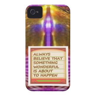 Poder del pensamiento positivo de la intención n iPhone 4 funda
