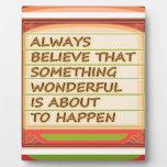Poder del pensamiento positivo de la intención n placas con foto