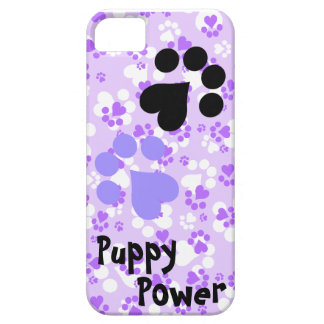 Poder del perrito - pata imprime - amantes animale iPhone 5 carcasa