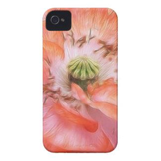 Poder del pétalo - amapola rizada iPhone 4 cárcasas