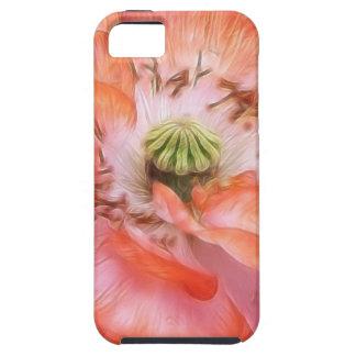 Poder del pétalo - amapola rizada iPhone 5 funda