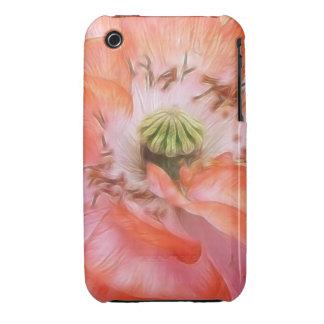 Poder del pétalo - amapola rizada iPhone 3 protector