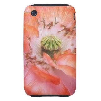 Poder del pétalo - amapola rizada iPhone 3 tough carcasa
