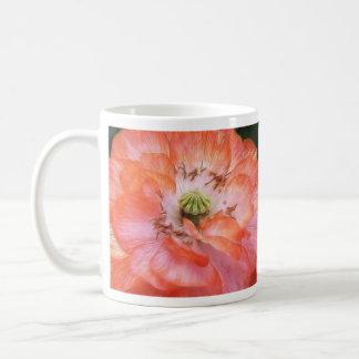 Poder del pétalo - amapola rizada tazas de café