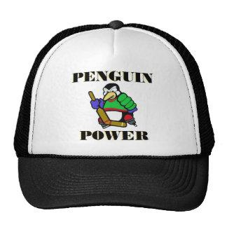 Poder del pingüino gorro de camionero