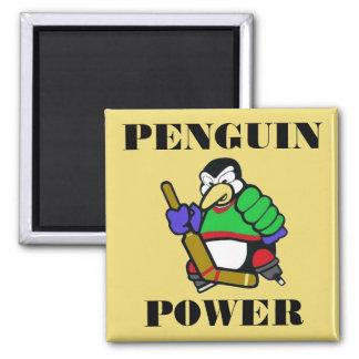 Poder del pingüino imán cuadrado